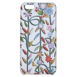 Delicate flowers and vines iPhone 5C case