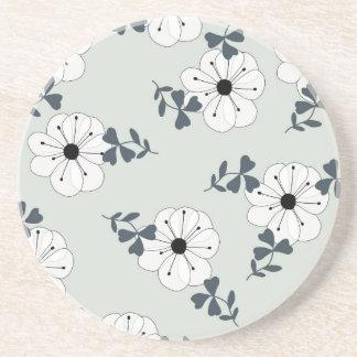 Delicate Flowers Design Coaster