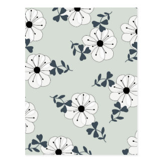 Delicate Flowers Design Postcard