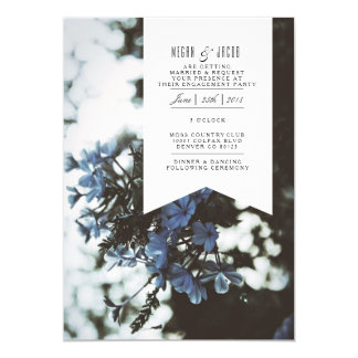Delicate Flowers | Engagement Party Invitation