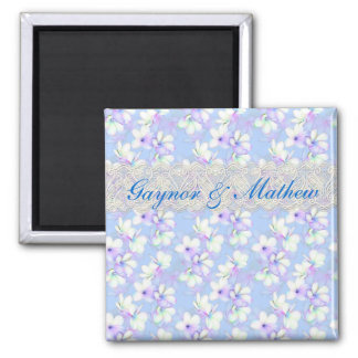 Delicate Flowery and Lace Refrigerator Magnet