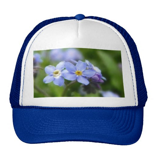 Delicate Forget Me Not Flowers Mesh Hats