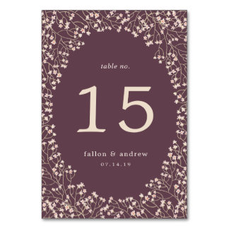 Delicate Frame | Personalized Table Number Card