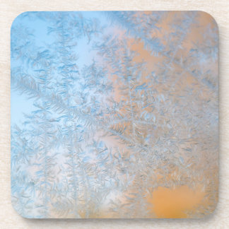 Delicate frost pattern, Wisconsin Coaster