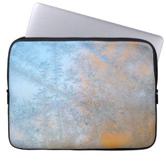 Delicate frost pattern, Wisconsin Laptop Sleeve