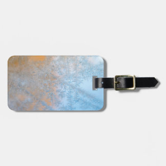 Delicate frost pattern, Wisconsin Luggage Tag