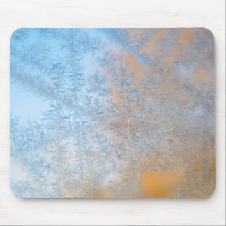 Delicate frost pattern, Wisconsin Mouse Pad