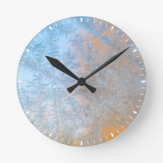 Delicate frost pattern, Wisconsin Round Clock