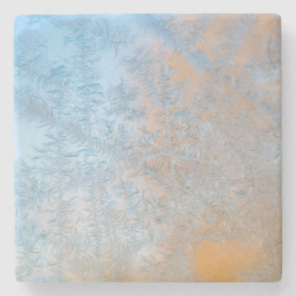 Delicate frost pattern, Wisconsin Stone Beverage Coaster