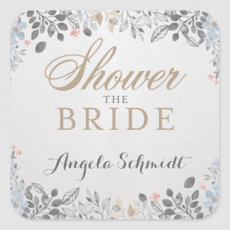 Delicate Garden Bridal Shower Sticker