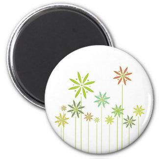 Delicate Garden Flowers 6 Cm Round Magnet