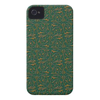 Delicate Gold Vines over Deep Green Case-Mate Blackberry Case