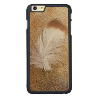 Delicate Goose Feathers Carved Maple iPhone 6 Plus Case