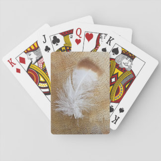 Delicate Goose Feathers Playing Cards