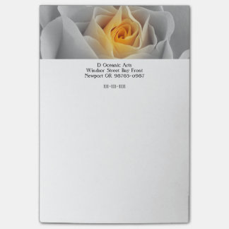 Delicate Gray Rose Post-it Notes
