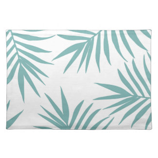 Delicate Green Tropical Leaves Pattern Placemat