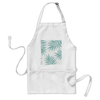 Delicate Green Tropical Leaves Pattern Standard Apron