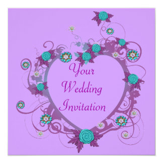Delicate Heart Wedding Invitation
