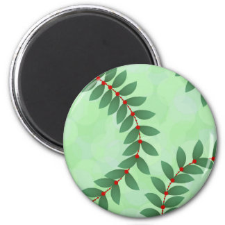 Delicate Holiday Foliage Magnet