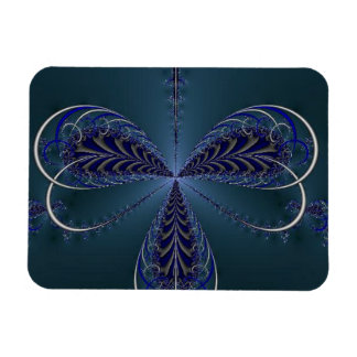 Delicate Insect Wings At Midnight Rectangular Photo Magnet