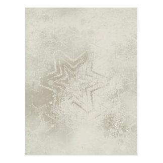 Delicate ivory star mandala greeting card postcard