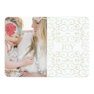 Delicate Joy | Holiday Photo Card 13 Cm X 18 Cm Invitation Card