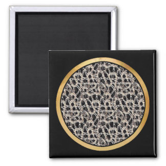 Delicate Lace Fabric Pattern Collection Lace - 02 Refrigerator Magnet