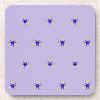 Delicate  lavender Purple Burst Pattern Coaster