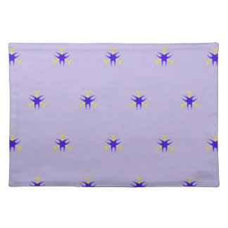 Delicate  lavender Purple Burst Pattern Placemat