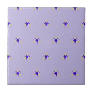 Delicate  lavender Purple Burst Pattern Tile