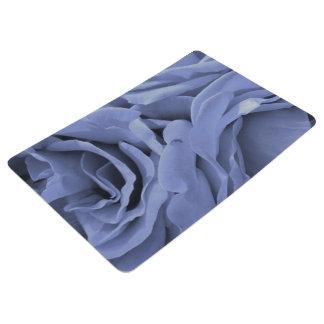 Delicate light blue gray roses flower photo floor mat