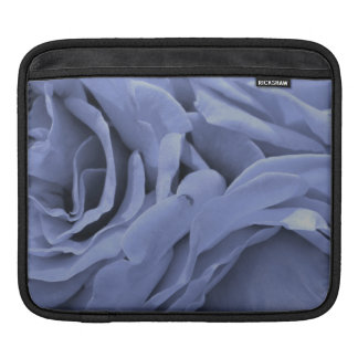 Delicate light blue gray roses flower photo iPad sleeve