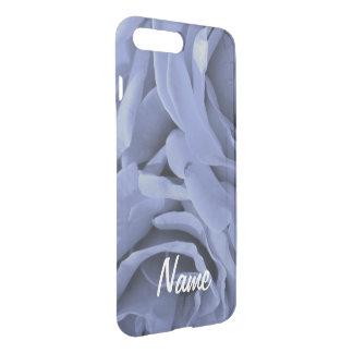 Delicate light blue gray roses flower photo iPhone 8 plus/7 plus case