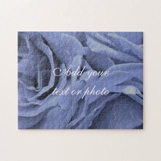 Delicate light blue gray roses flower photo jigsaw puzzle