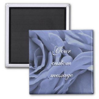 Delicate light blue gray roses flower photo magnet