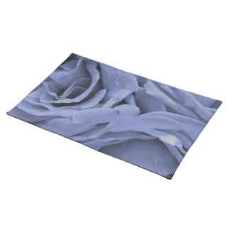 Delicate light blue gray roses flower photo placemat