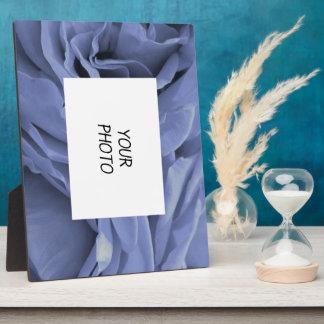Delicate light blue gray roses flower photo plaque