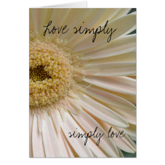 Delicate love simply greeting card