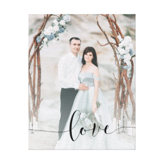 Delicate Love | Your Photo and Calligraphy Overlay Canvas Print