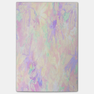 Delicate Pastel Painterly Floral Post It Notes Sticky Note