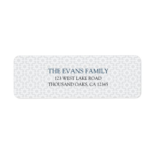 Delicate Patterned Mitzvah Return Address Label