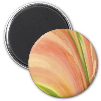 Delicate Peach 6 Cm Round Magnet