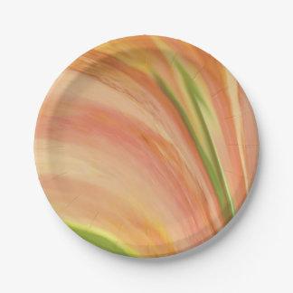 Delicate Peach Paper Plate