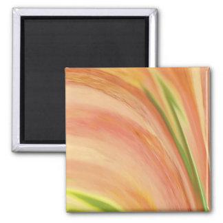 Delicate Peach Square Magnet