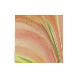 Delicate Peach Stone Magnet