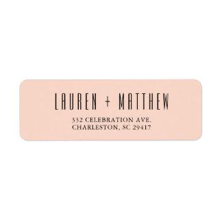 Delicate Peach Wedding Return Address Label