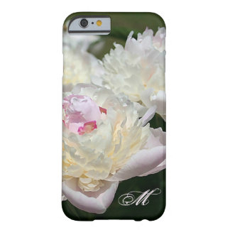 Delicate Peony Watercolor in Pink and White Barely There iPhone 6 Case