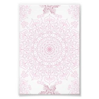 Delicate Pink Doily Pattern Photo Print