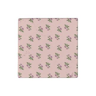 Delicate Pink Floral Magnet Stone Magnet
