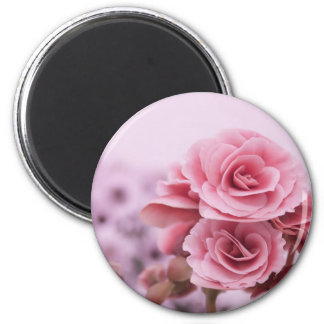 Delicate Pink Flowers Refrigerator Magnets